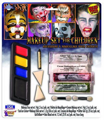 Costume Makeup Set Halloween Face Paint Disguise For Children - Kids Face Painted For Halloween