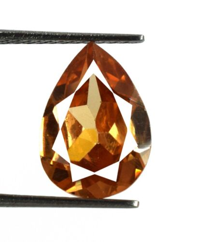 Brown Axinite Ring Size Gemstone 100% Natural Pear 7.40 Ct AGI Certified V8112