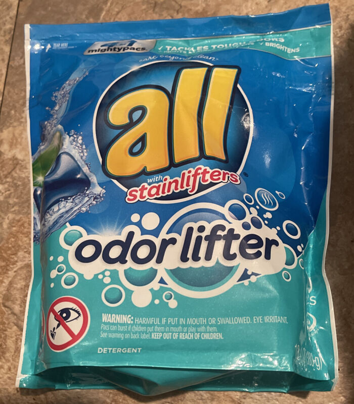 ALL Mighty Pacs Laundry Detergent Pods 4-in-1 With Odor Lifter 19ct/ea