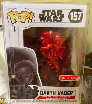 2019 Funko POP! Star Wars 157 Darth Vader Red Chrome Target Exclusive