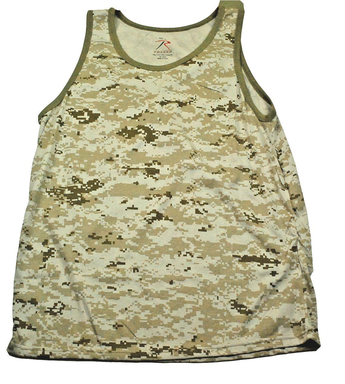 Rothco Clothing Digital Desert Camoflage Tank Top  XL