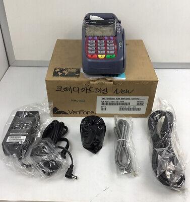 New Verifone Vx570 Credit Card Terminal Omni 5700 W Power Data Cables Nib