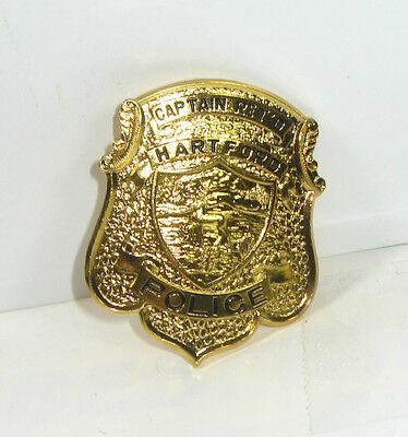 GÖDE Polizeiabzeichen - Hartford Captain Ret'D Police Badge Polizeimarke #31*WR8