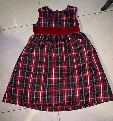 Girls Gymboree Red Striped Christmas Dress Size 5](Girls Red Christmas Dresses)