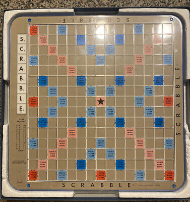 Vintage 1977 Scrabble Deluxe Edition Revolving Turntable Board Only