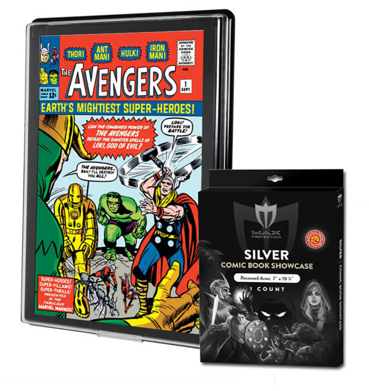 1 Max Pro UV Silver Comic Book Premium Showcases Wall Mountable Display Frame