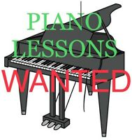 Piano lessons wanted