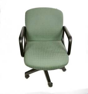 1 x Green Square Office Chair. $2 cash pick up. Pick up only. Lonsdale Morphett Vale Area Preview