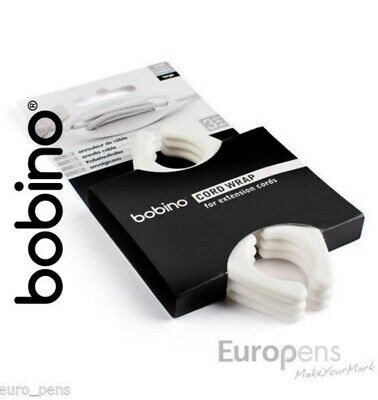 Bobino LARGE Cord Wrap (PK of 3) for Mains Leads & Laptops cables - CREAM (Cord Wrap Large)