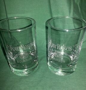 2 FOUR ROSES BOURBON GLASSES