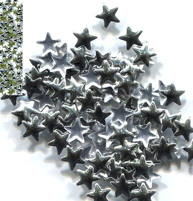 STARS Smooth Rhinestuds 8mm SILVER Color Hot Fix 1 gross