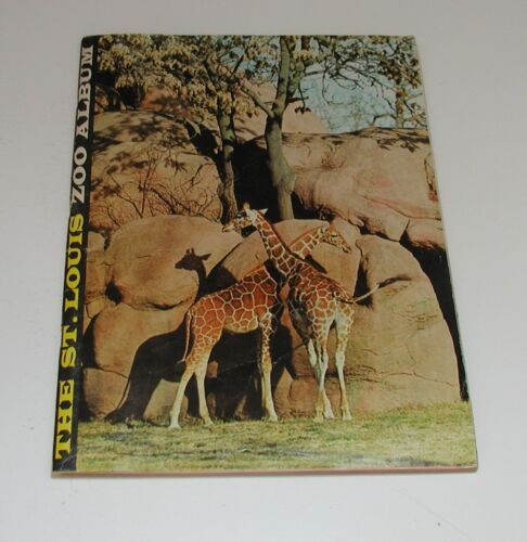 VINTAGE 1961 The St. Louis Zoo Album ILLUSTRATED w/ MAP Missouri Forest Park MO