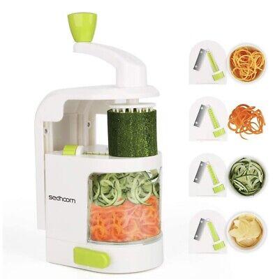 Espiralizador vegetal Sedhoom Cortador de Verduras MultiFunción de Alimentos