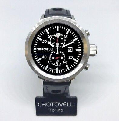a7c765caeec Chotovelli Big Pilot Men s Watch uboat homage Chronograph Italian leather  747.11
