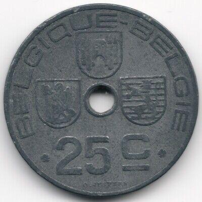 Belgium : 25 Centimes 1942 French - Dutch Legend