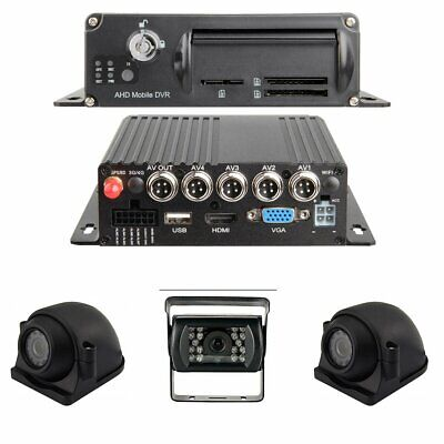 Black Box 1080P Dash Cam, 3 or 4 Cam MDVR System, For Fleets/ Truckers
