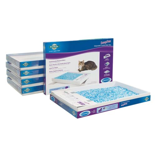 PetSafe ScoopFree Blue Crystal Self-Cleaning Litter Box Tray - 6 Pack