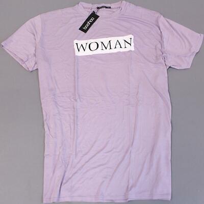 Boohoo Women's Plus Chelsey Woman Oversized T-Shirt Dress GS2 Lilac Size US:20