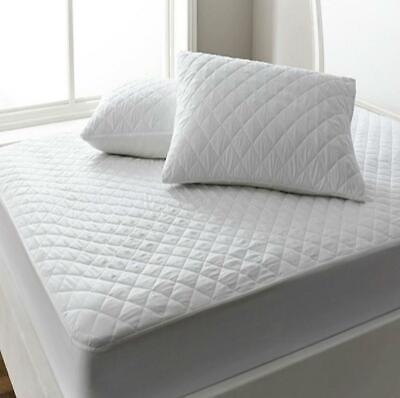 Super-King Bed Size Standard Quilted Mattress Bed Protector Topper Fitted Cover