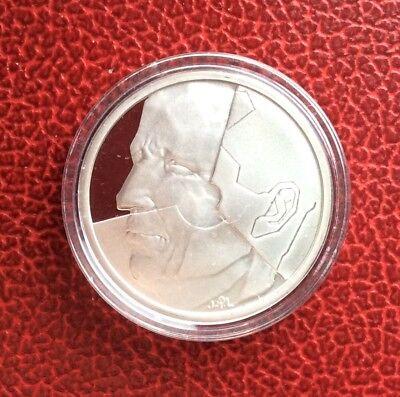 Belgique - Refrappe officielle de la Monnaie Royale - Rare 5 Francs 1986 FR - Ag