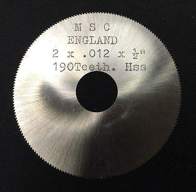 "2 x .008 x 1//2/"" HSS Jewelers Slotting Saw"
