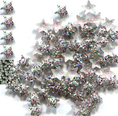 GLITTER STARS Rhinestuds iron-on hot-fix 5mm  SILVER  1 gross