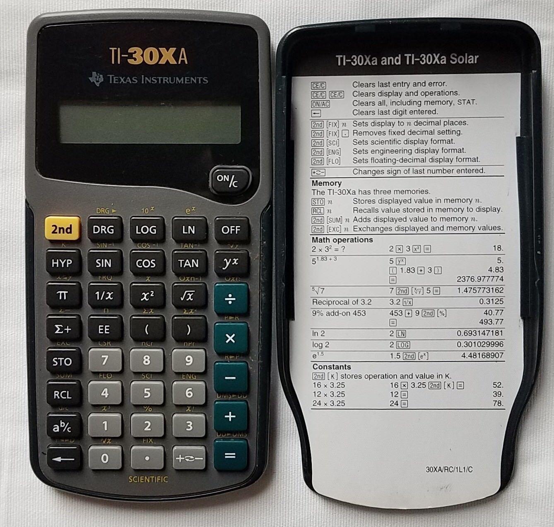 Texas Instruments TI-30XA Scientific Calculator Good Condition