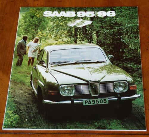 Saab 95 & 96 V4 US brochure Prospekt, 1972