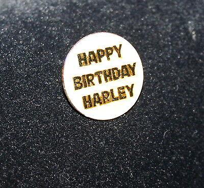Vintage 80s Happy Birthday Harley-Davidson Harley Motocycle Hat Pin New NOS - Harley Davidson Happy Birthday