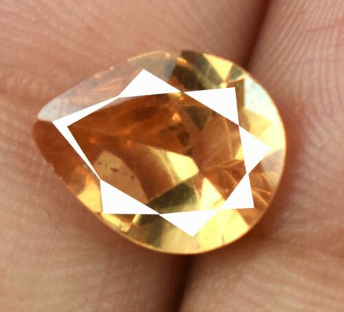 Free Certificate 4.05 Ct Pakistan Axinite Gemstone Pear Natural Certified A15506