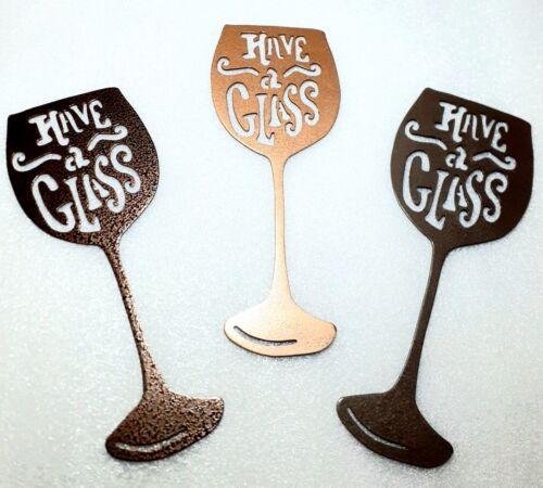 Wine Glass Home Bar  Restaurant Decor Metal Wall Art Unique Display $19 Each