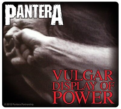 Sticker Pantera Vulgar Display of Power Album Art Groove Metal Music Band Decal
