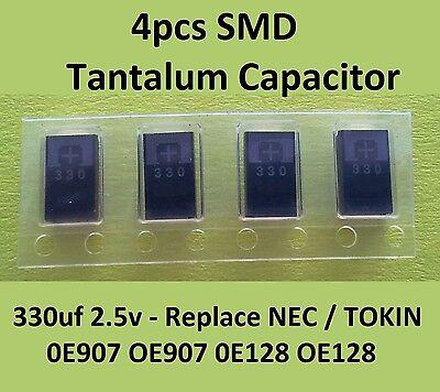 4 X Smd Tantalum Capacitor 330uf 2.5v Replace Nectokin 0e907 Oe907 0e128 Oe128