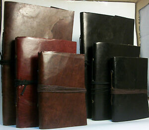 LEATHER-BOUND-NOTEBOOK-JOURNAL-DIARY-100-RECYCLED-HANDMADE-PAPER-FAIR-TRADE