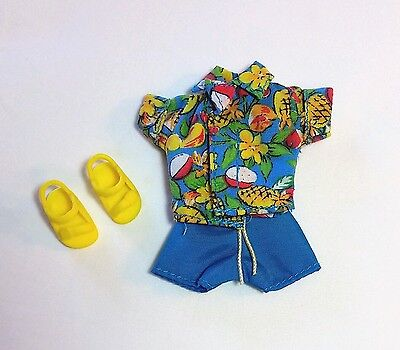 Kelly Tommy Ryan Doll Clothes Hawaiian Print Summer Outfit Shorts Top Shoes New