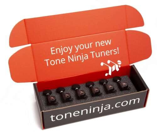 Genuine Tone Ninja Tuners, 6 Inline Staggered, Black