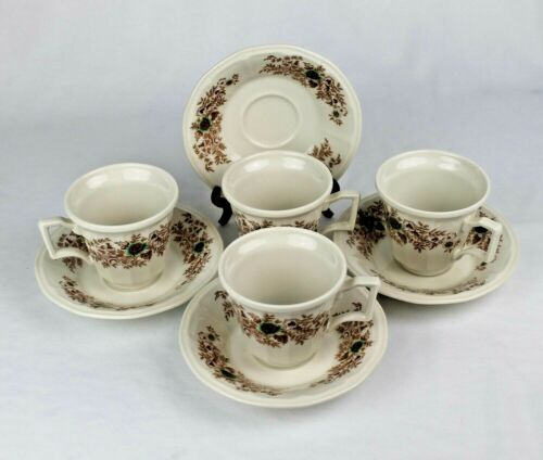 Vtg. Iroquois China Henry Ford Museum Sarah Jordan Cups & Saucers - Discontinued