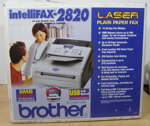 Brother Intellifax 2820 Plain Paper Fax Phone Copier All In One