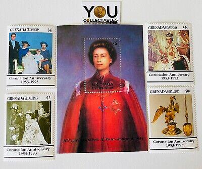 GRENADA GRENADINES 1993 - 40th ANNIVERSARY OF THE CORONATION - Mint - FREE P&P
