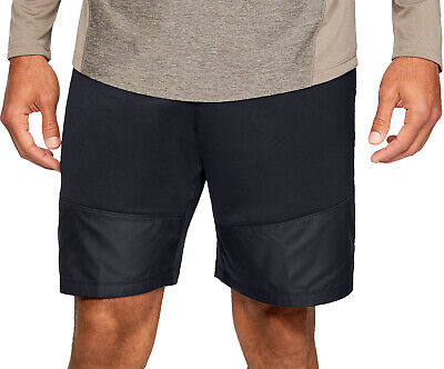 Under Armour French Terry Mens Training Shorts Black Loose Stylish Gym Workout