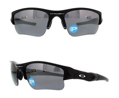NEW Oakley Flak Jacket XLJ sunglasses Jet Black / Black Iridium Polarized 12-903