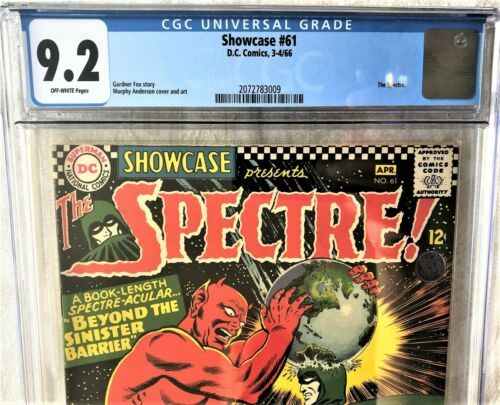Showcase # 61 CGC 9.2 NM-  Spectre, Batman, Superman, Justice Society, NEW CASE!