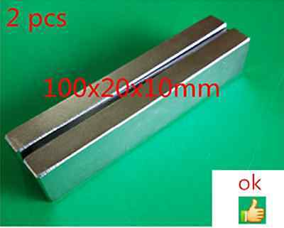 New Long Neodymium Permanent Magnets D100x 20x10mm Strong Rare Earth Magnet