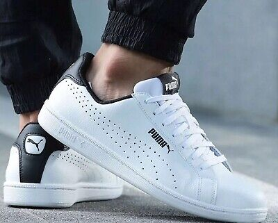 Puma Classic Men's White Leather Smash Perf Trainers RRP £50.00 363722 01