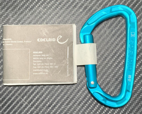EDELRID Pure Carabiner Straight Gare Icemint - NEW! FAST! FR