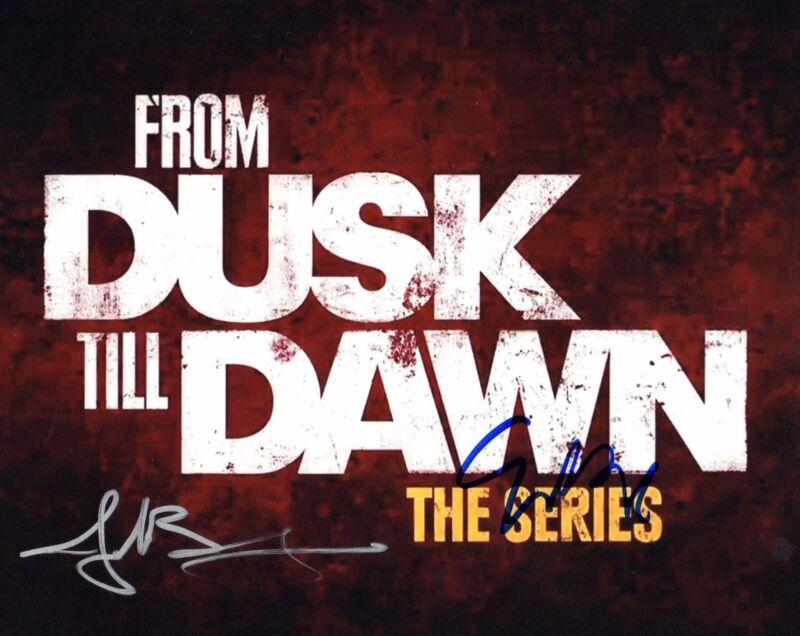 GFA Eiza Gonzalez & Jake Busey * FROM DUSK TILL DAWN * Signed 8x10 Photo AD1 COA