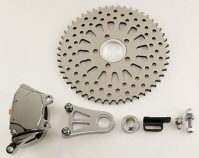 "DNA Chrome Super Spoke 51T Brake Caliper Sprocket ""Sprokester"" for Harley/Custom"