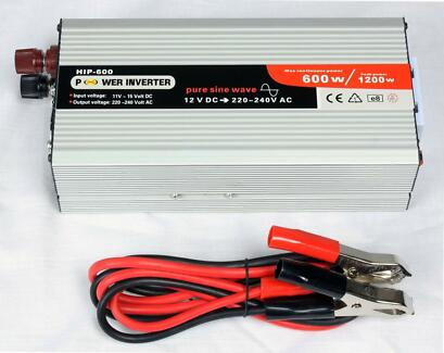 POWER INVERTER 600W - 1200W PEAK PURE SINE WAVE 12V 240V Malaga Swan Area Preview