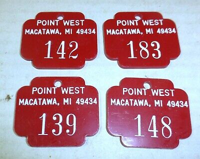 Point West Inn motel room key fobs lot (4), Macatawa, Holland, Michigan, history