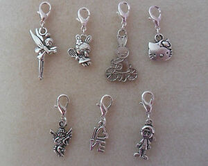 1-x-Clip-On-Charm-Miffy-Tinkerbell-Bracelet-Handbag-Zip-Free-Gift-Bag